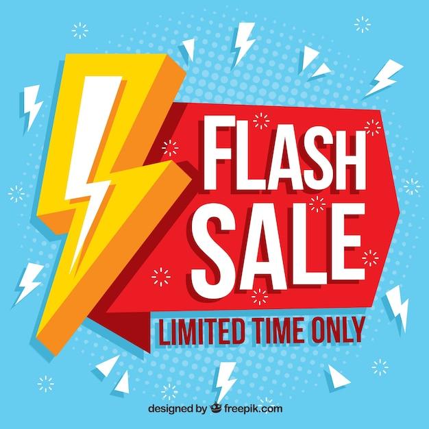 Astratto sfondo di vendita flash Vettore Premium