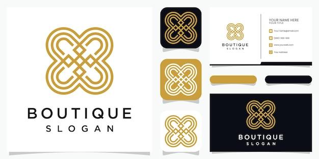 Fiore astratto combinato lettera b logo design Vettore Premium