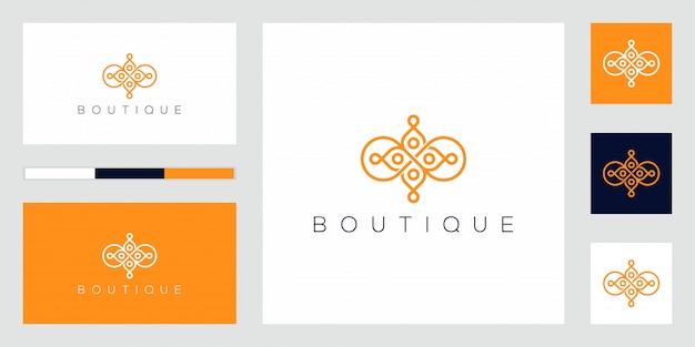 Fiore astratto icona logo design vettoriali. Vettore Premium