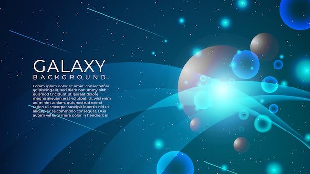 Sfondo astratto galassia Vettore Premium