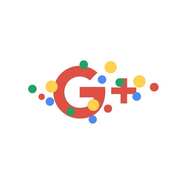 Astratto sfondo carta da parati google plus Vettore Premium