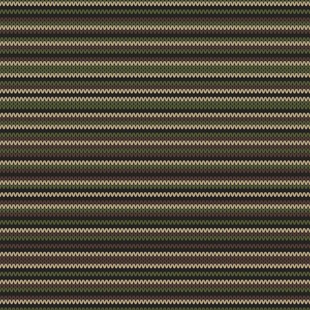 Motivo a maglia astratto in colori mimetici classici. sfondo senza soluzione di continuità Vettore Premium