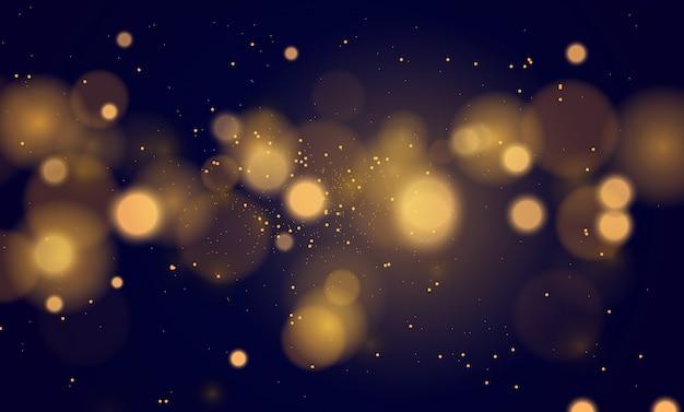 Fondo magico astratto con effetto delle luci del bokeh Vettore Premium