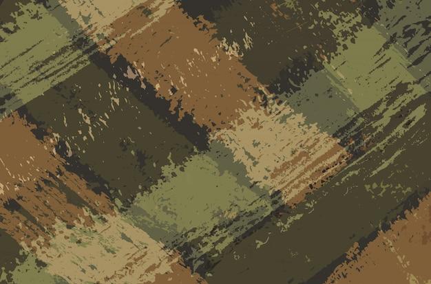 Sfondo di tratti di pennello militare astratta Vettore Premium