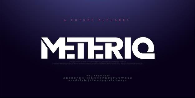Font alfabeto moderno minimale astratto. Vettore Premium