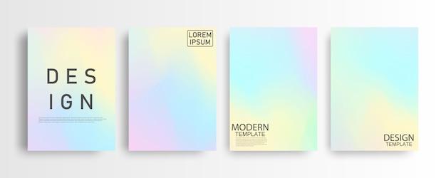 Modello astratto pastello colorato gradiente di sfondo a4 concetto per il tuo grafico colorato, modello di layout per brochure Vettore Premium