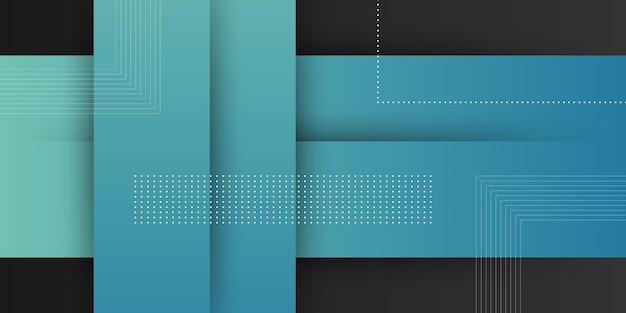 Fondo moderno astratto con colore pastello sfumato blu e elemento di forma quadrata Vettore Premium