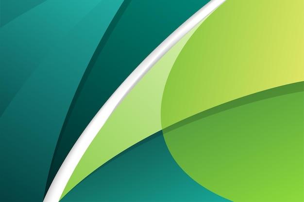 Elemento di curve di movimento moderno astratto verde e turchese su sfondo. Vettore Premium