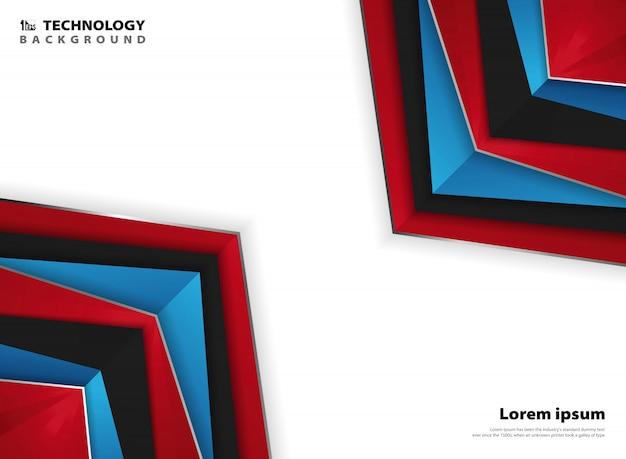 Fondo bianco blu rosso di colori della pagina moderna astratta Vettore Premium