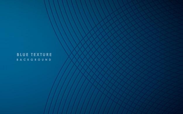 Modello moderno astratto di sfondo blu Vettore Premium