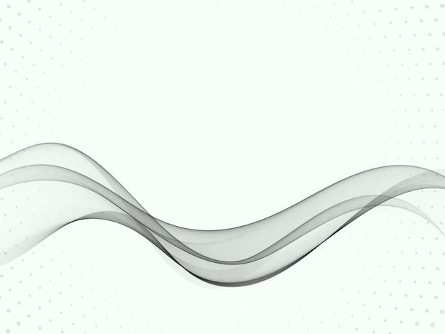 Design moderno astratto certificato grigio trasparente con linee di velocità swoosh. illustrazione Vettore Premium