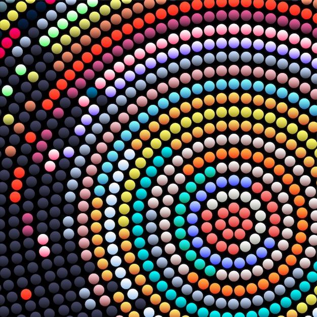 Mosaico astratto Vettore Premium
