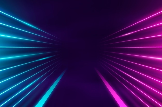 Sfondo astratto luci al neon Vettore Premium