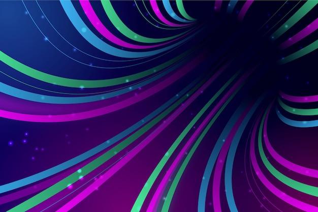 Carta da parati astratta delle luci al neon Vettore Premium