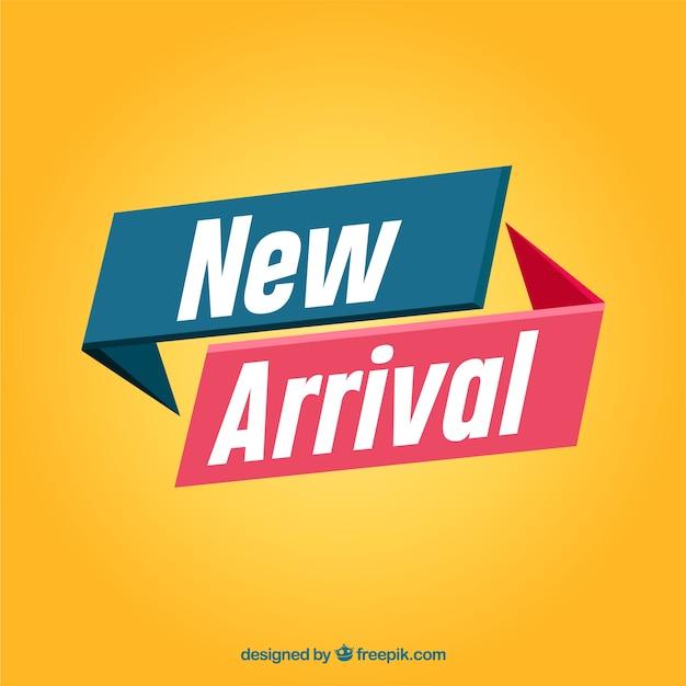 Composizione astratta nuovo arrivo con design piatto Vettore Premium