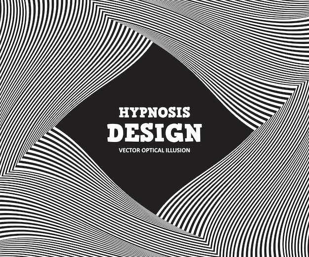 Illusione ottica astratta. sfondo bianco e nero di strisce ondulate Vettore Premium