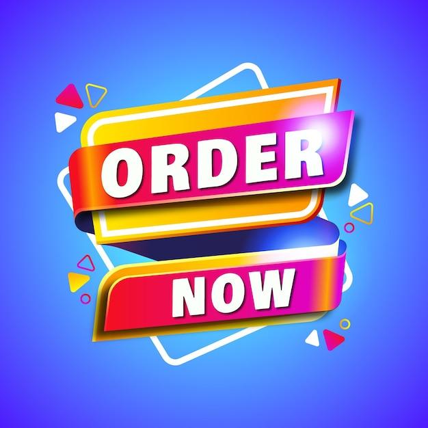Ordine astratto ora banner Vettore Premium