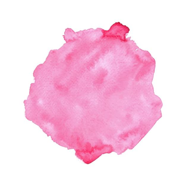 Acquerello rosa astratto su fondo bianco. Vettore Premium