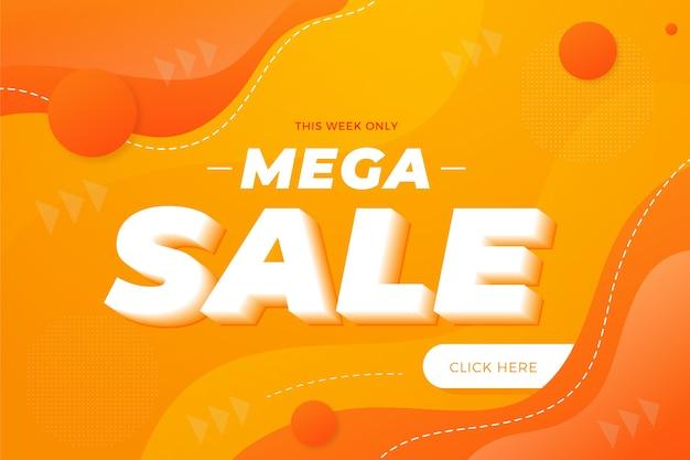 Vendita mega di promozione astratta primavera Vettore Premium