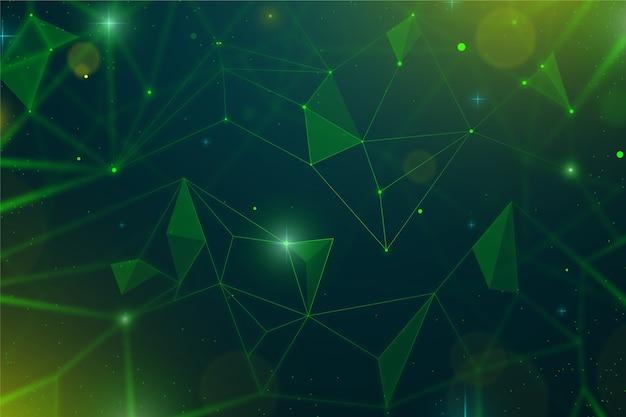 Fondo realistico astratto delle particelle di tecnologia Vettore Premium