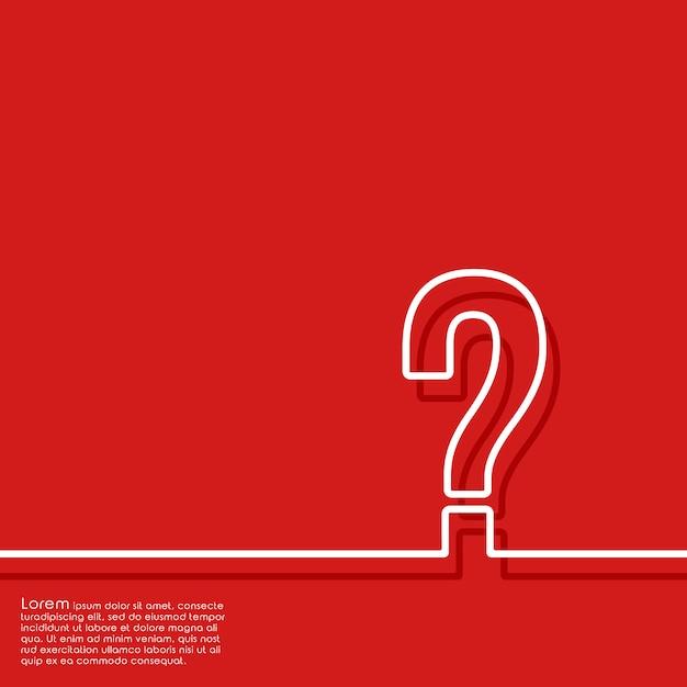 Astratto sfondo rosso con il punto interrogativo Vettore Premium