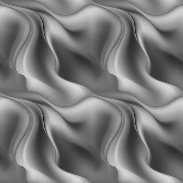 Grigio senza cuciture astratto dell'onda di struttura del fondo del modello Vettore Premium