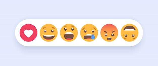 Set astratto di emoticon Vettore Premium