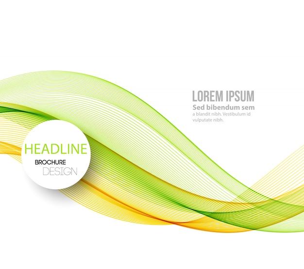 Sfondo astratto onde fumose. design brochure modello Vettore Premium