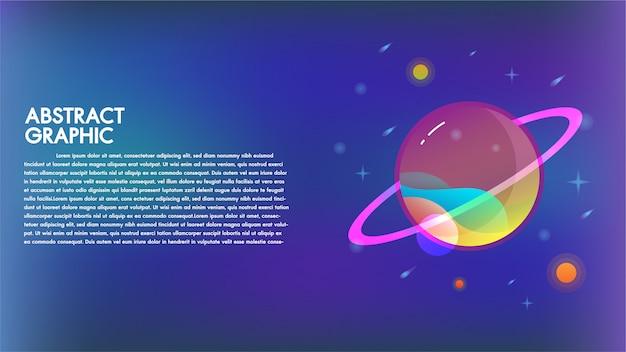La tecnologia astratta guasta la fantascienza di comunicazione del fondo di progettazione del pianeta Vettore Premium