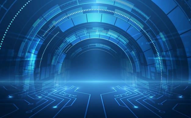 Concetto di velocità tecnologia astratta Vettore Premium
