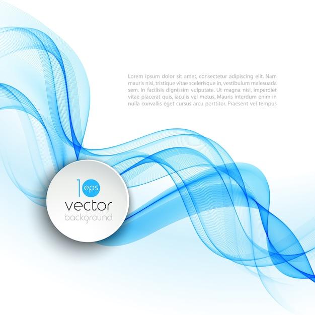 Progettazione trasparente astratta dell'opuscolo del fondo del modello dell'onda Vettore Premium