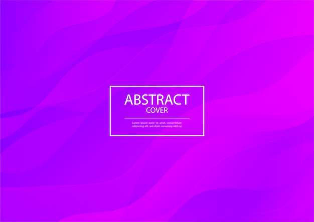 Onda astratta viola e rosa sfumato colore sfondo linee lucide. Vettore Premium