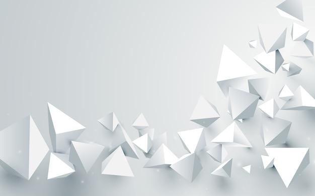 Priorità bassa astratta delle piramidi di bianco 3d Vettore Premium