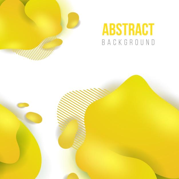 Astratto sfondo liquido giallo Vettore Premium