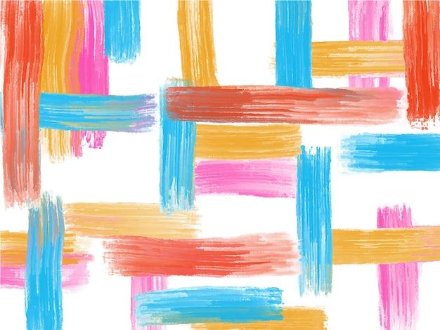 Acrilico, sfondo di pennellate di pittura ad olio Vettore Premium