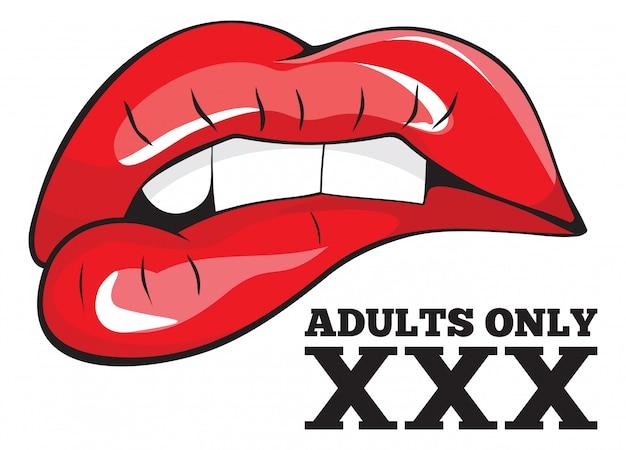 Segno solo per adulti. segno xxx Vettore Premium