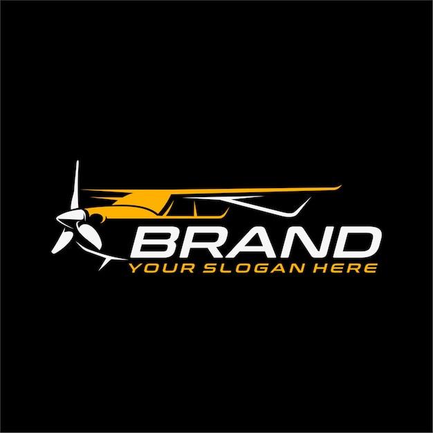 Logo dell'aeroplano Vettore Premium
