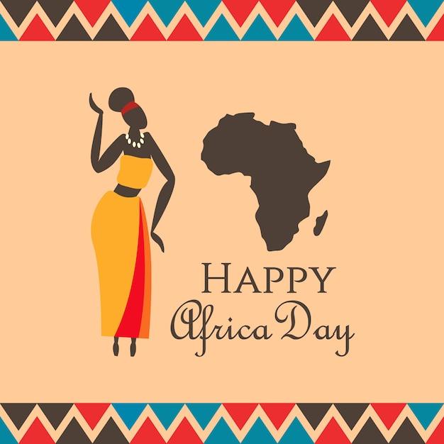Illustrazione del giorno africa Vettore Premium