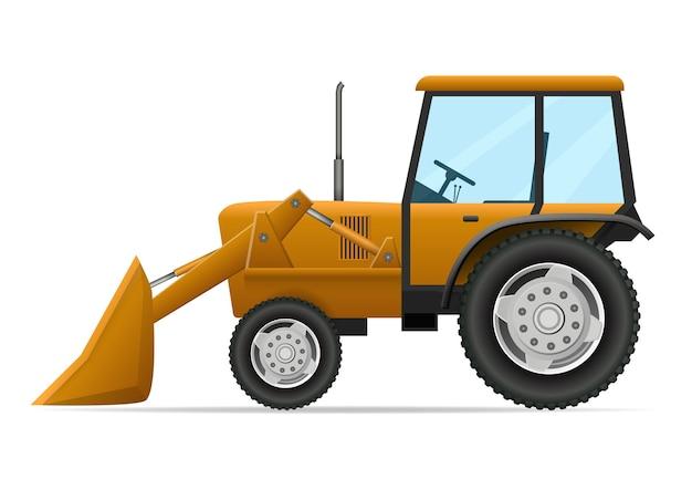 Illustrazione del trattore agricolo Vettore Premium