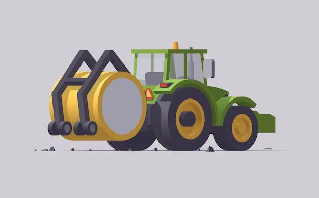 Macchine agricole con attrezzature Vettore Premium