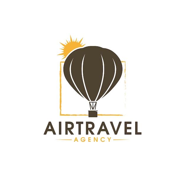 Logo di viaggio aereo Vettore Premium