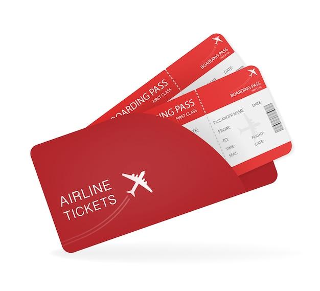 Biglietti aerei per carta. creativo. viaggio . illustrazione. Vettore Premium
