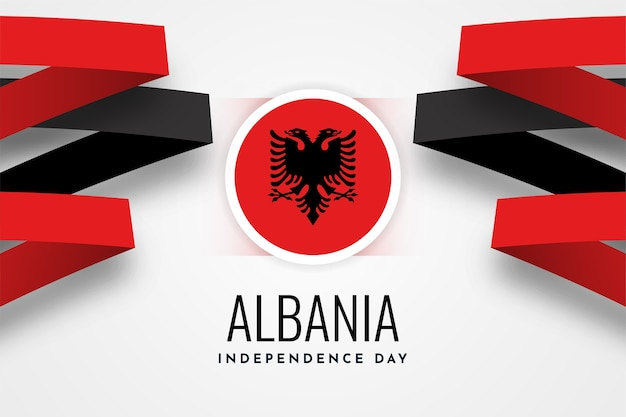 Festa dell'indipendenza dell'albania Vettore Premium