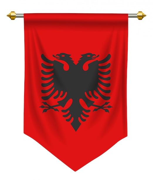 Pennant albania Vettore Premium