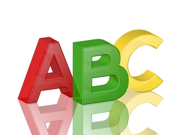 Alfabeto abc Vettore Premium