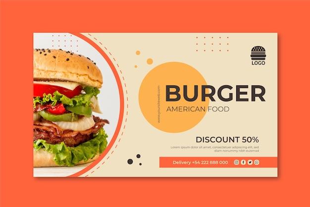 Concetto di banner cibo americano Vettore Premium