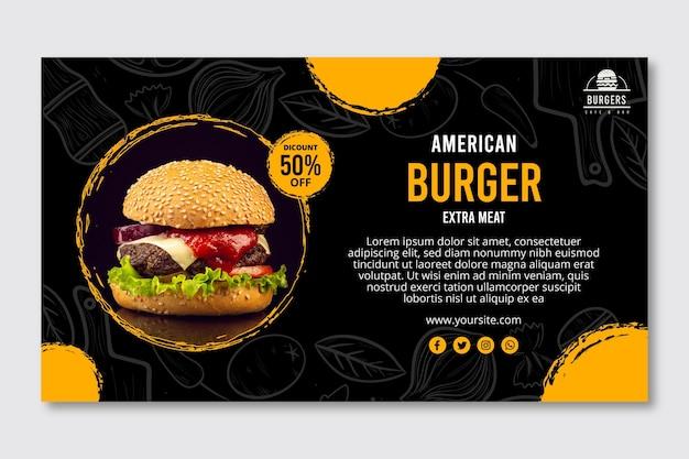 Banner di cibo americano Vettore Premium