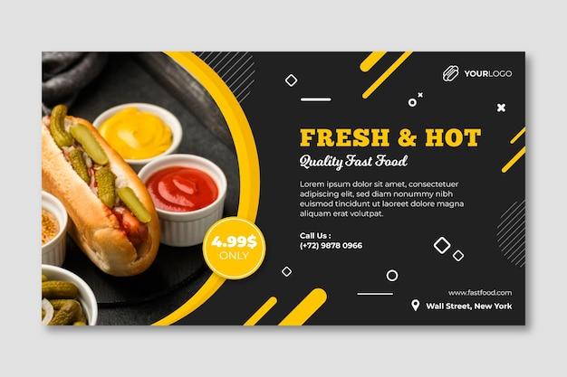 Modello di banner ristorante cibo americano Vettore Premium