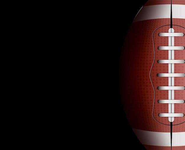Football americano. partita di rugby. illustrazione di sport football americano. Vettore Premium