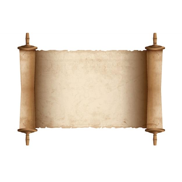 Antica pergamena Vettore Premium